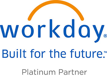 Workday logo. Platinum Partner.