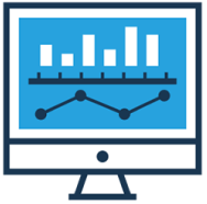 Icon for QuickPoll showing bar chart and line graph