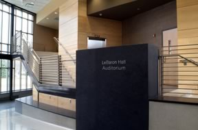 Figure 1. Entrance to LeBaron Hall Auditorium