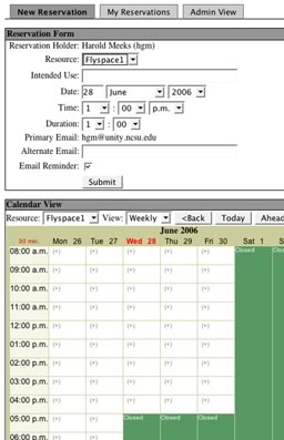 Figure 1. Room Scheduling Puts Students in Charge