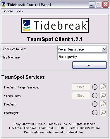 Figure 3. The TeamSpot Client