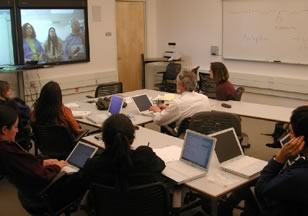 Figure 2. Sharing Field Experience Through Videoconferencing