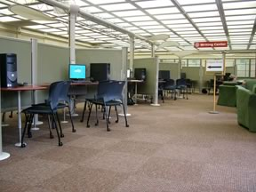 Group Space in Information Commons at (a) University of Massachusetts Amherst and (b) University of Binghamton