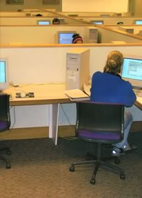Original Cox Hall with Many Cubicles
