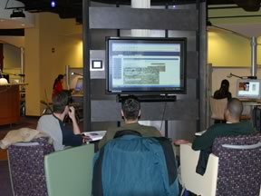 Large Screens in Lab for Group Work