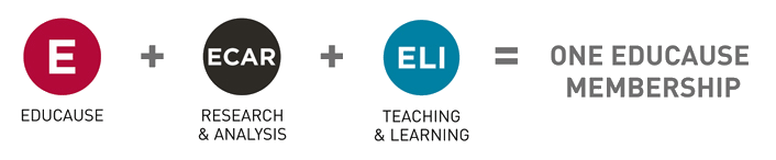 EDUCAUSE, ECAR, and ELI all in one membership
